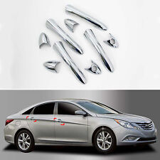 Chrome Door Handle Catch Molding Trim Cover for 2011~2014 Sonata