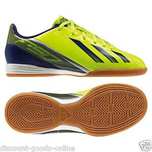 26aed53b2c93 Image is loading ADIDAS-JUNIOR-F10-IN-J-INDOOR-FOOTBALL-BOOTS-