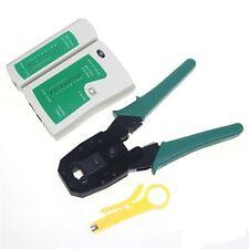 Crimping Tool for RJ45 RJ12 RJ11 + Lan Tester for RJ45 RJ11 Combo Offer