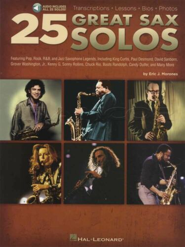 25 Great Sax Solos Saxophone Sheet Music Book//Audio Kenny G Steely Dan Foreigner