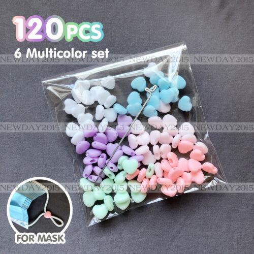 6 Colors Mix - For Elastic Cord 120pcs Adjustment Buckle Adjustable Stops