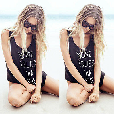 Sexy Women's Summer Vest Top Sleeveless Blouse Casual Tank Tops T Shirt