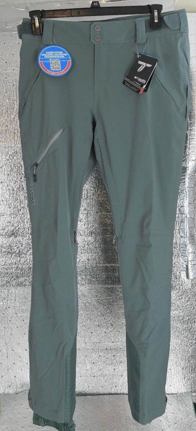 New Women's Columbia TITANIUM Zip Down Ski Snowboard Pants Size M WK1490  250