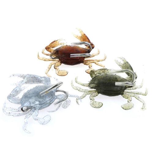 Sea Fishing Jigging Baits 3D Fishing Simulation Soft Crabs Bait Lures Crankba/_ti