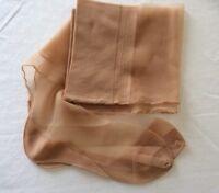 Vintage 50s Nylon Stockings Rare Stay Put 15 Den Seamed Cuban 10 - 11 Leg 33