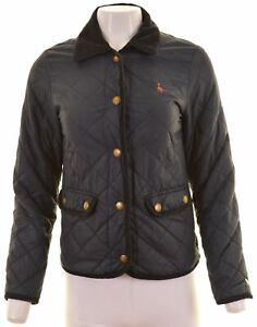 JACK-WILLS-Womens-Quilted-Jacket-UK-8-Small-Navy-Blue-Nylon-GT14
