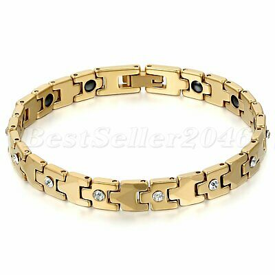 Women/'s Charm Tungsten Carbide Health Powerful Bracelet Magnetic Therapy Chain