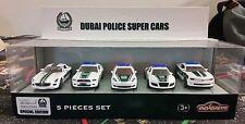MAJORETTE 5 PCS SET DUBAI POLICE SUPER CARS MERCEDES FORD PORSCHE AUDI CHEVROLET