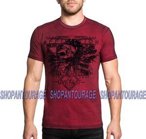 fantasia uomo teschio Mohawk T A19033 Mma con corte da Ac shirt a Affliction maniche 7wgTa4qxn