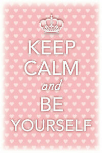 Keep-Calm-And-Be-Yourself-Panneau-Metallique-Plaque-Voute-en-Etain-20-X-30-CM