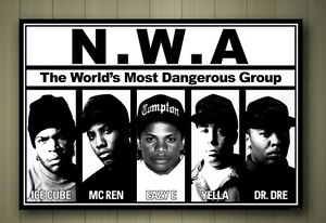 Details about N W A  FRAMED CANVAS POSTER SIZE A1 A2 A3 A4 PRINT NWA EAZY-E  ICE CUBE HIP HOP