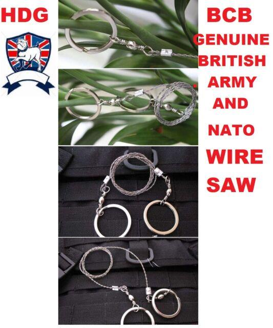 BCB GENUINE BRITISH ARMY,NATO,MOD COMMANDO WIRE SAW RING SAS SURVIVAL COMBAT