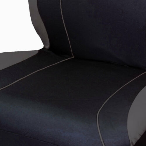 For Honda New Flat Cloth Black and Grey Car Seat Covers Floor Mats Full Set
