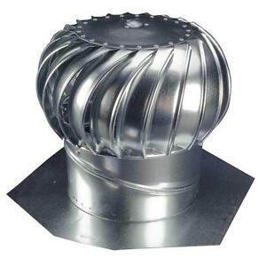 12 Whirlybird Attic Steel Wind Turbine Roof Vent Exhaust