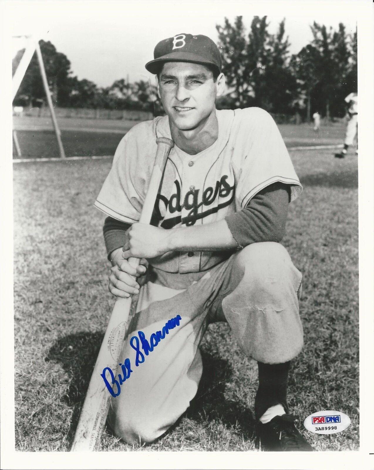 Bill Sharman LA Dodgers Signed 8x10 Photo - PSA/DNA # 3A89998