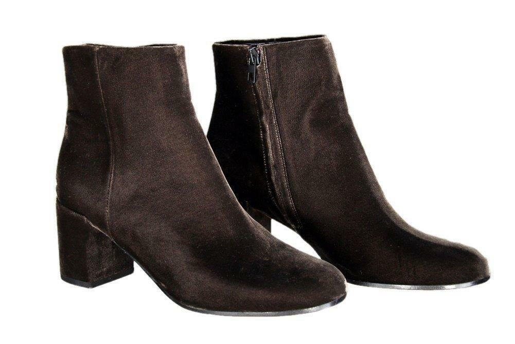 VINCE Blakely Brown Velvet Ankle Boots Booties Booties Booties Size 9.5 d08b19