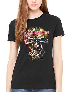 c6ef9d46 Official Iron Maiden Final Frontier Big Head Women's T-Shirt Rock ...