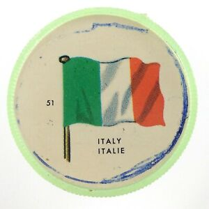 Vintage-Italy-Number-51-General-Mills-Premium-Coin-Flags-Of-The-World-M974