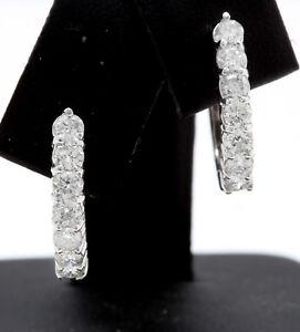 Women-Natural-VS2-F-G-Diamonds-1-15-CTW-in-14K-Solid-White-Gold-Earrings