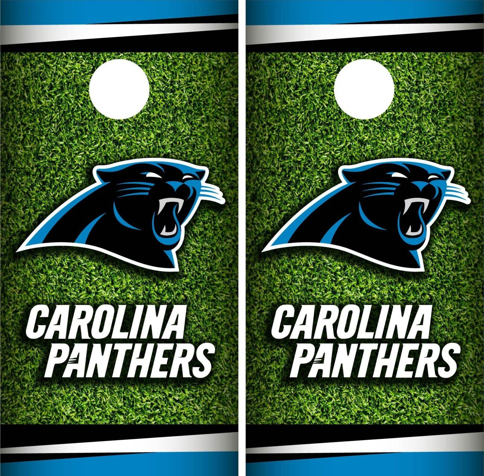 Carolina Panthers FIeld Cornhole Wrap NFL Skin Game Board Set Vinyl Decal CO40