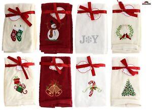 4 Holiday Christmas Hand Towels Kitchen Bathroom New Ebay