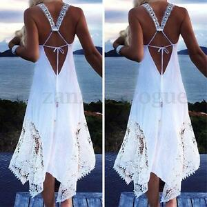 Women-Summer-Sleeveless-Boho-Club-Party-Beach-Lace-Sundress-Plus-Size-Maxi-Dress