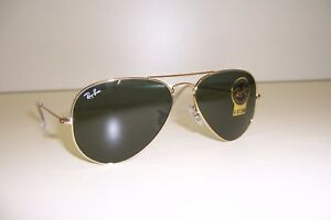 f1af9f9f7aac8 NEW RAY BAN Sunglasses 3025 W3234 ARISTA GOLD GREEN 55MM AUTHENTIC ...
