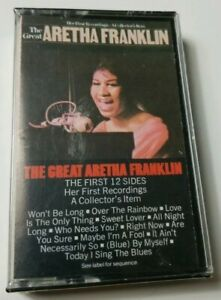 Aretha Franklin Cassette The Great Aretha Franklin 1972 CBS Tape