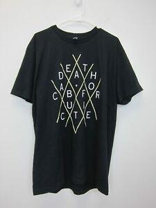 Death-Cab-For-Cutie-Adult-Logo-T-Shirt-XL-Black-New