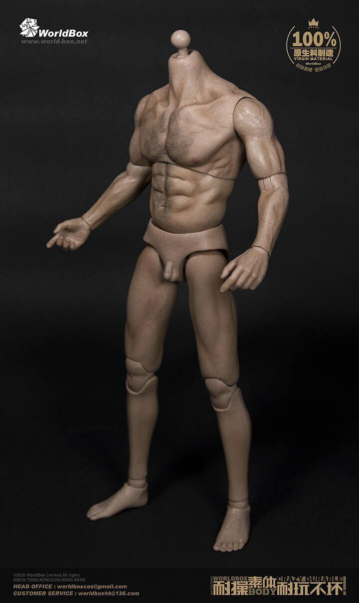 WeltBox 1 6 Male Muscle Körper Wolverine Logan Figure Wide Shoulder AT012 Spielzeugs
