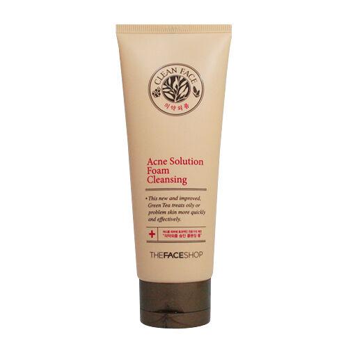 [THE FACE SHOP] -Clean Face Acne Solution Foam Cleansing/Korea Cosmetics