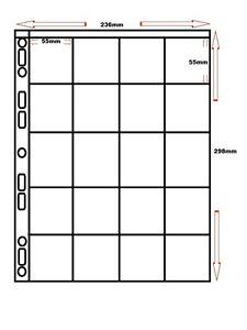 100-x-20-POCKET-POLYPROPYLENE-A4-STORAGE-SLEEVES-POGS-TAZOS