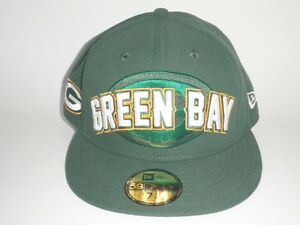 812b948b70244 New Era Green Bay Packers DRAFT Hat 7 1 4 ( 35) Players 59Fifty ...
