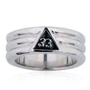 Free Mason Ring Silver Color 33rd Degree Freemasonry