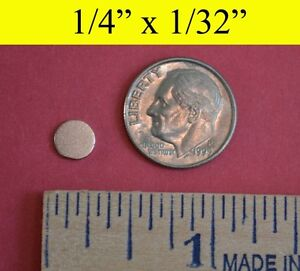 "100 Pack - Neodymium Rare Earth Magnets 1/4""x1/32"""