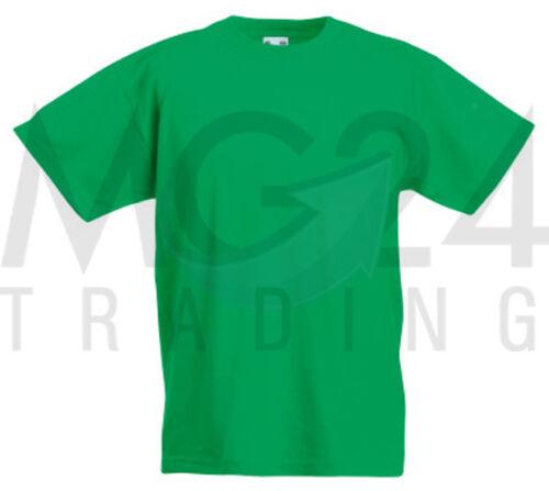 10er Set Fruit of the Loom Kinder Kids T-Shirts in allen Größen und Farben NEU