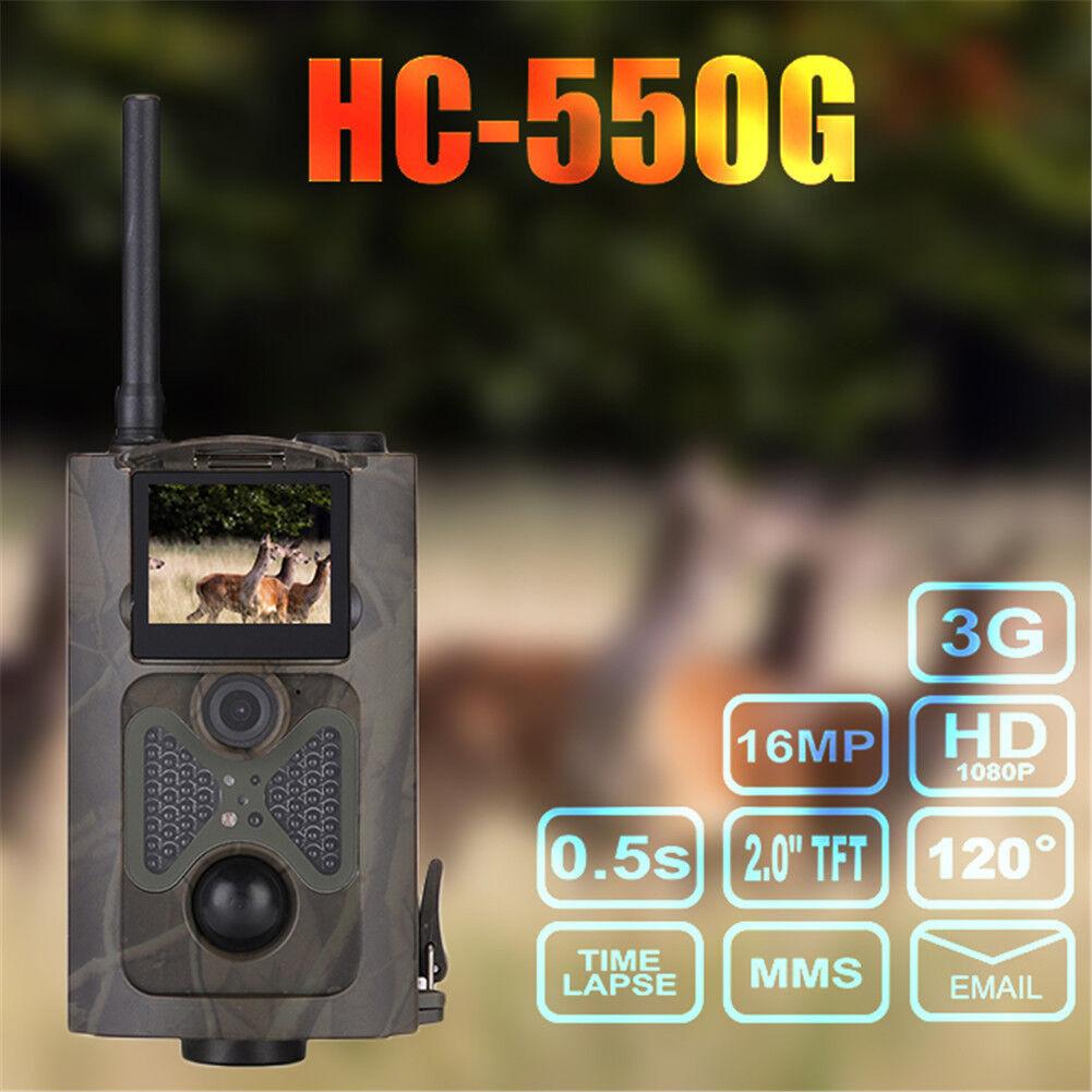 HC-550G HD 16MP Infrared 3G  GPRS SMS MMS Hunting Camera Night Vision Trail Trap  cheap designer brands