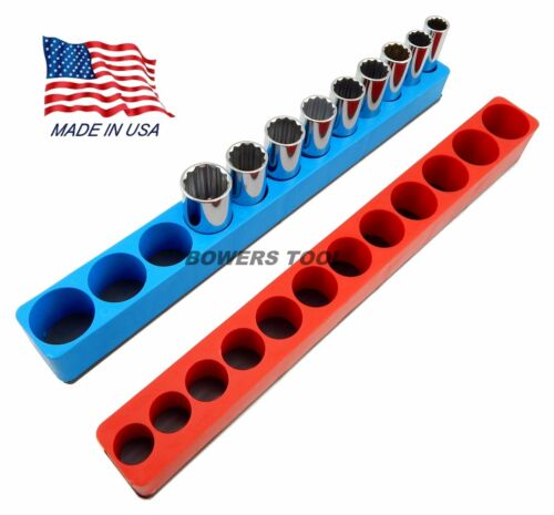 Mechanics Time Saver 3//8 Drive Magnetic Deep Socket Holder Tray Metric SAE MTS