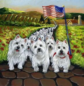 WESTIE HALLOWEEN GARDEN FLAG  FREE SHIP USA RESCUE