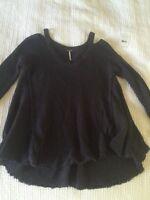 Free People Charcoal Size Medium Woman Sweater
