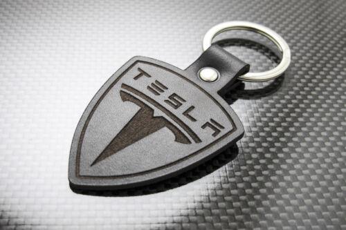 TESLA Leather Keyring, Keychain Schlüsselring Porte-clés Model S X P90d P100d