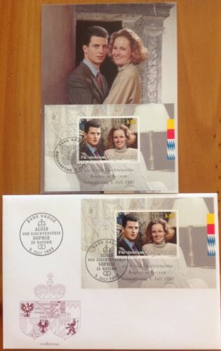 LIECHTENSTEIN 1995 ROYAL WEDDING FDC AND MAXICARD (DIFFERENT CANCELS)