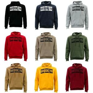 Adult-Men-039-s-Unisex-Hoodie-Hooded-Jumper-Pullover-Women-039-s-Sweater-BROOKLYN