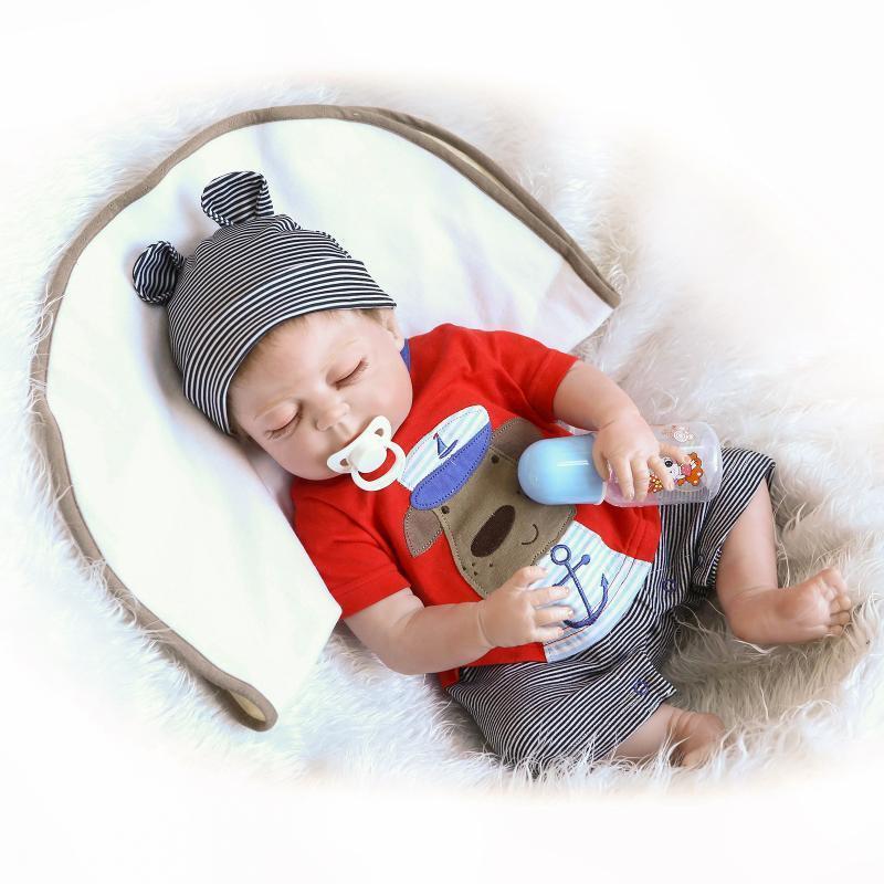 22  realistico fatto a mano completa del corpo in silicone RINATO baby doll con abiti e giocattoli UK