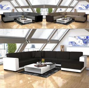 Couchgarnitur Wohnzimmer, ecksofa star eckcouch couchgarnitur couch kunstleder und stoff sofa, Design ideen