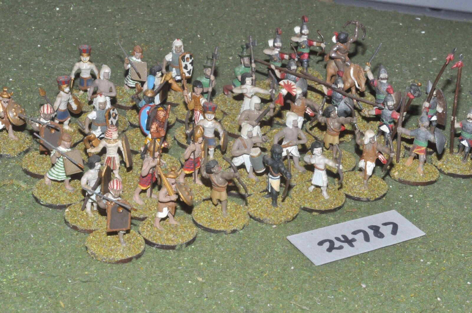 25mm biblical   mixed - skirmishers 40 figures - inf (24787)