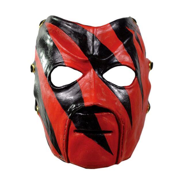 Mens WWE Raw Kane Wrestling Costume Mask Champion Red Black Adult