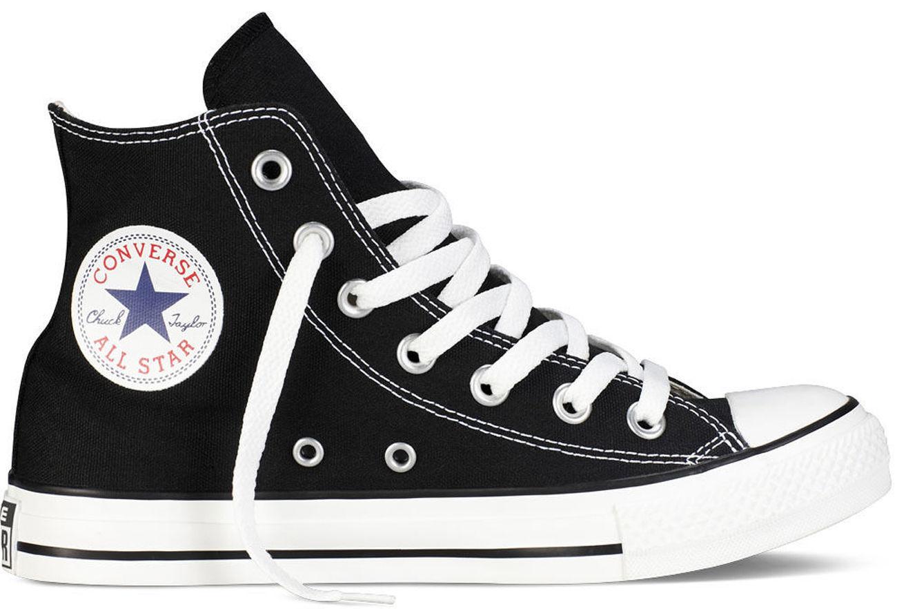 CONVERSE ALL STAR HI noir M9160C paniers UNISEX TELA ALTE Taglie fino al 49 EU