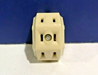2-PK Leviton Single Bakelite BROWN Surface Mounting Convenience Outlet 9203 NEW
