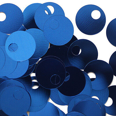 Made in USA 20mm Flat Round Sequin Paillettes Royal Blue Prism Metallic